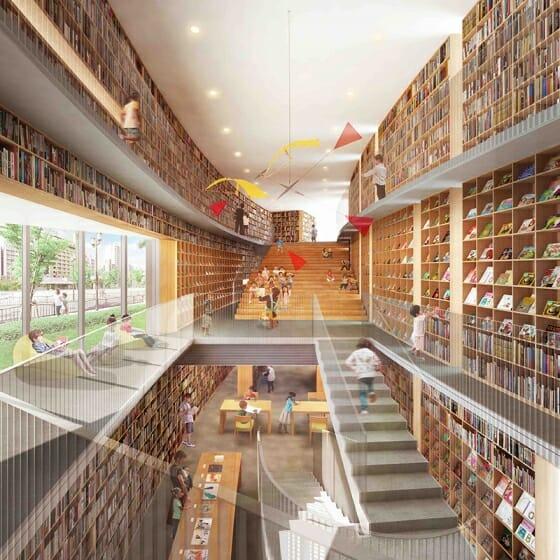 安藤忠雄設計の図書施設「こども本の森 中之島」が2020年3月に大阪・中之島公園にオープン