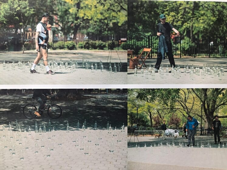 Shuta Hasunuma, Someone's public and private / Something's public and private, 2019, Tompkins Square Park, New York <br />Photo by Masahito Ono