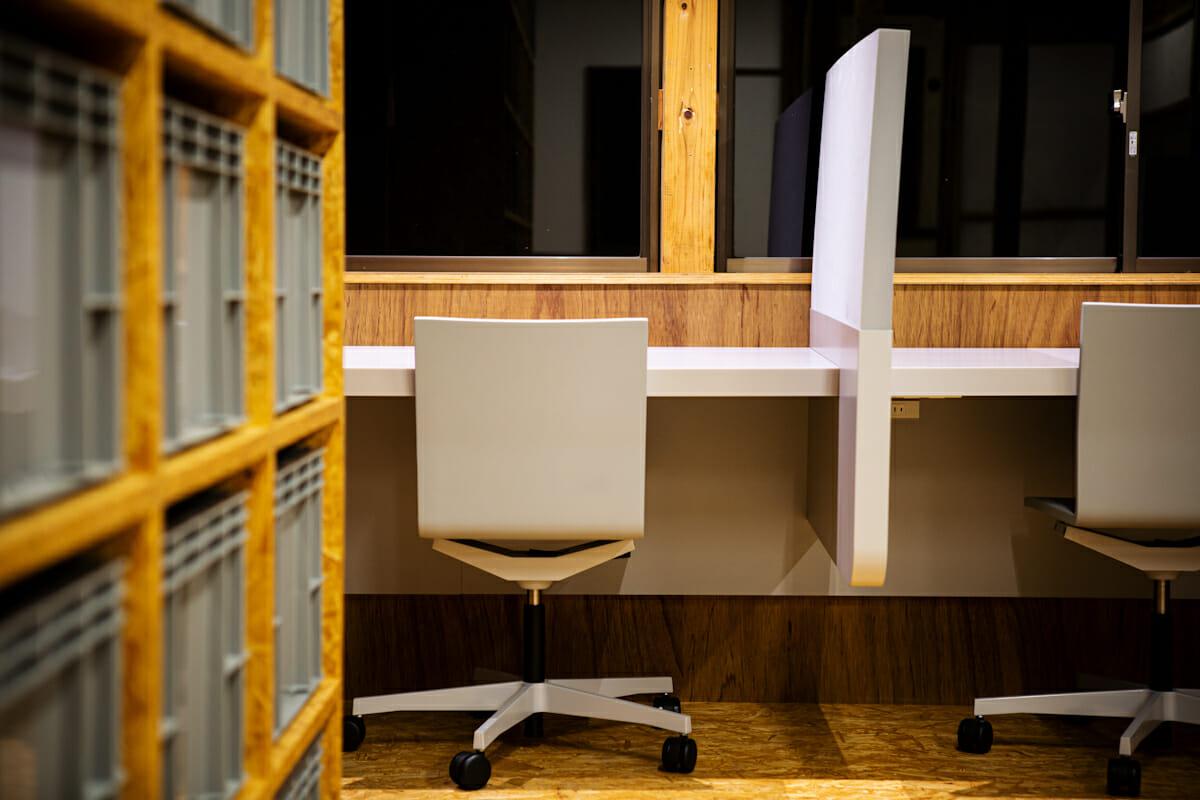 2階の個人作業スペース