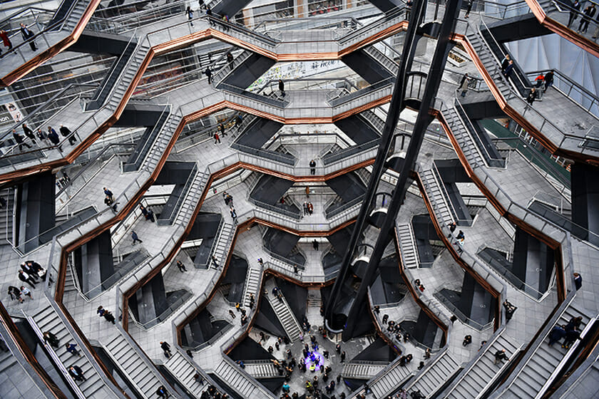 へザウィック・スタジオ 《ヴェッセル》 2019年(完成) ハドソン・ヤード(ニューヨーク) Photo courtesy: Getty Images