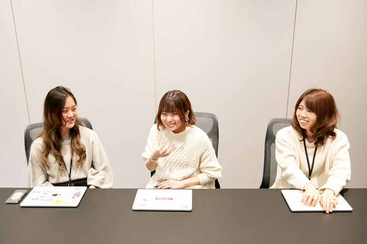 野添さん、西巻さん、遠藤さん