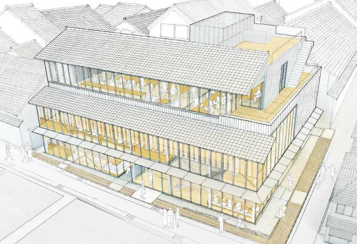 中川政七商店による初の複合商業施設が今秋オープン。建築は内藤廣