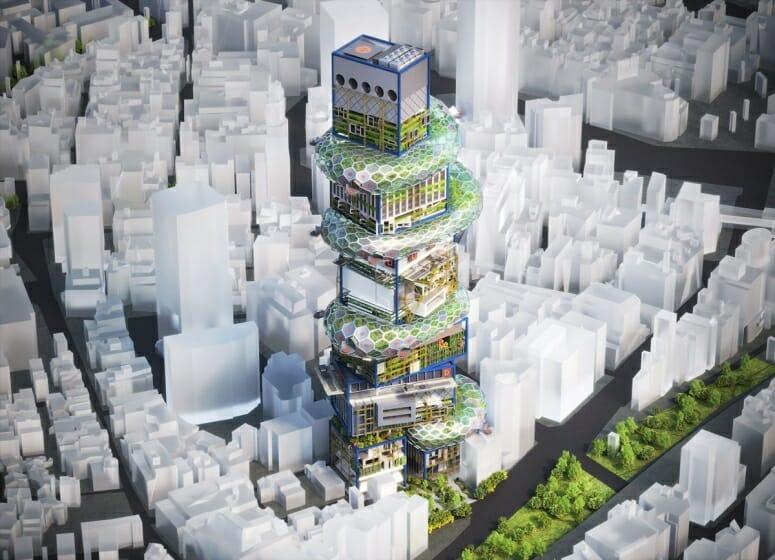 noizが垂直型スマートシティの構想を視覚化した「SHIBUYA HYPER CAST. 2 」を公開