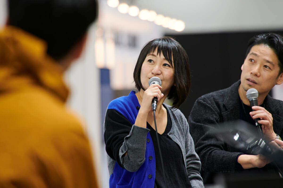 SUPPOSE DESIGN OFFICEの二人。左から、吉田愛さん、谷尻誠さん