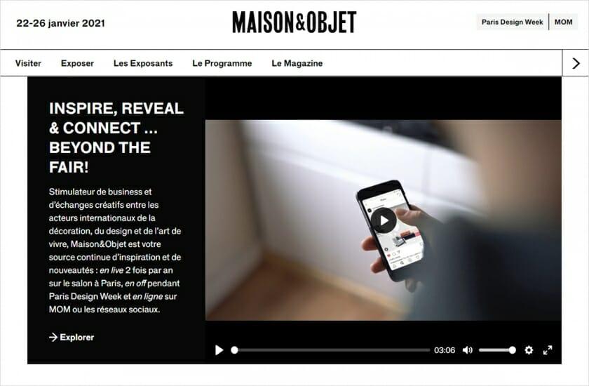 メゾン・エ・オブジェ2020年9月展が中止、オンラインで「デジタル・フェア」を開催