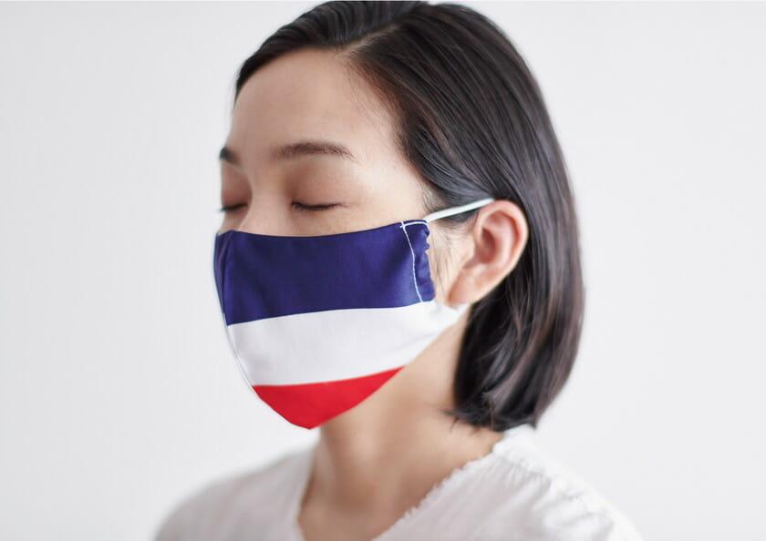 ブランド「印染杉下」印染布マスク 装着時の画像