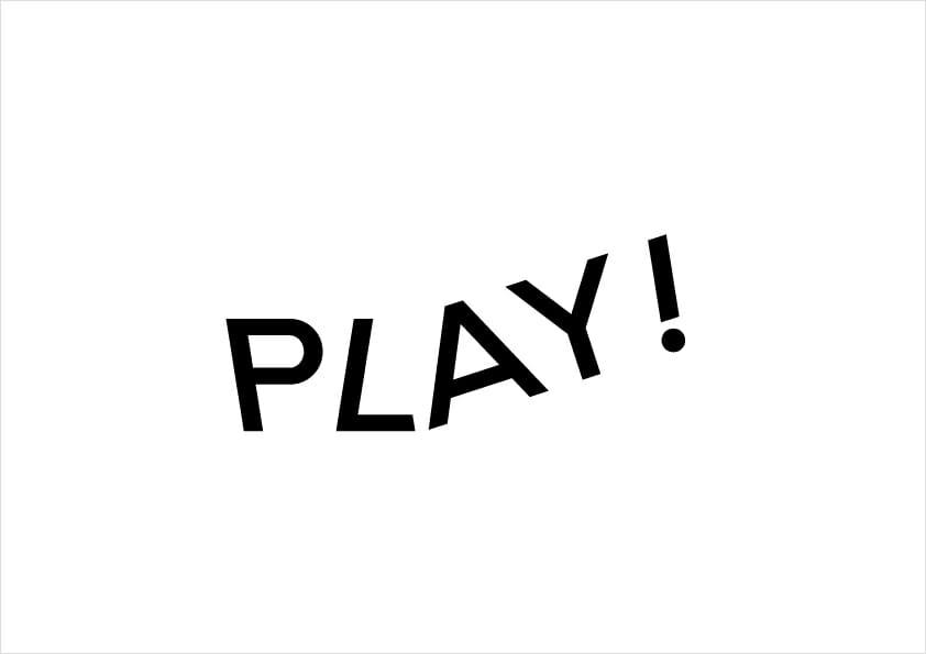 PLAY! ロゴマーク(デザイン:菊地敦己)