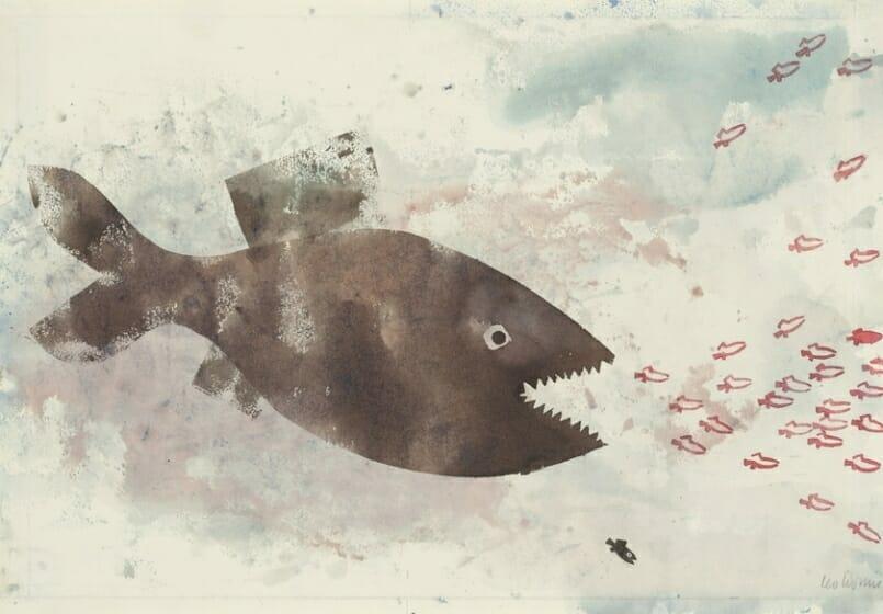 レオ・レオーニ「スイミー」 1963年<br />Swimmy ⓒ 1963 by Leo Lionni, renewed 1991/Pantheon<br />On Loan By The Slovak National Gallery