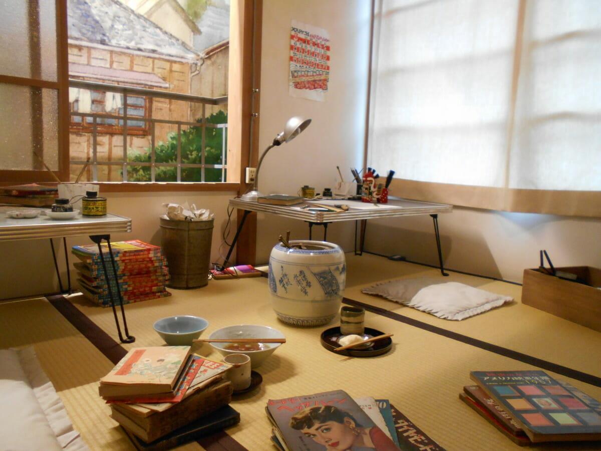 豊島区立 トキワ荘マンガミュージアム2階 マンガ家の部屋の画像
