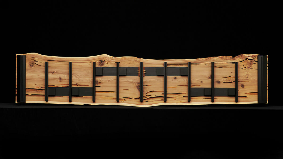 「KINPEI」プロジェクトの倒木スピーカー