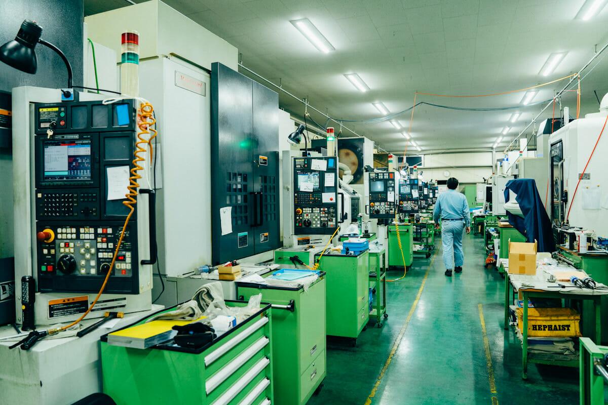 フィールドワークを実施した入曽精密内の工場