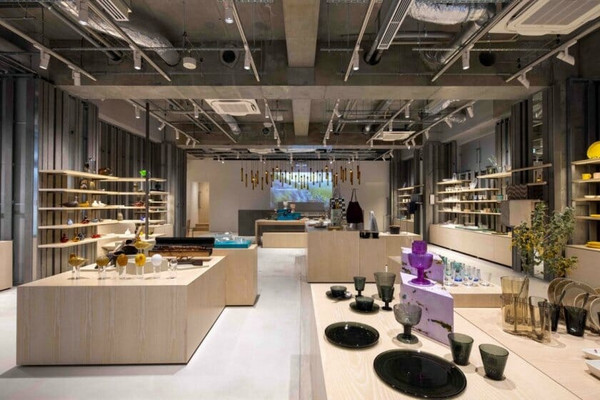 隈研吾が店舗デザイン、旗艦店「イッタラ表参道 ストア&カフェ」が2月19日オープン