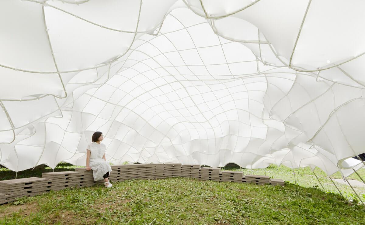 「Weaving Carbon-fiber Pavilion」内観