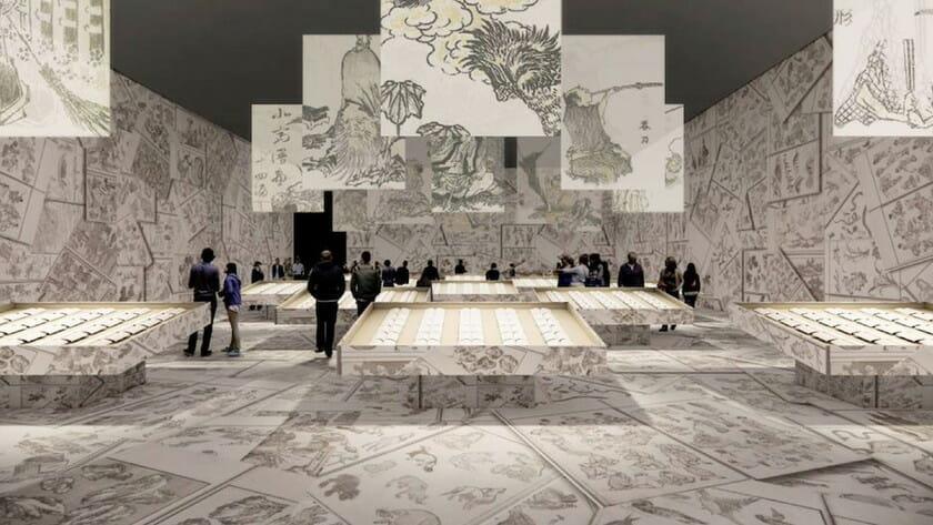 田根剛や祖父江慎らが展示空間を構築、葛飾北斎生誕260年を記念した「北斎づくし」展が7月開催