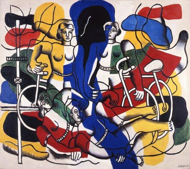 フェルナン・レジェ〈美しい自転車乗り〉1944年 徳島県立近代美術館蔵